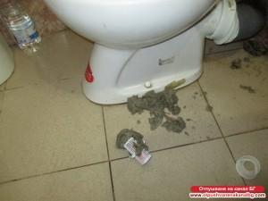 Изваждане на ароматизатора от тоалетната чиния